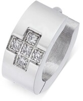 Thumbnail for your product : Sutton by Rhona Sutton Men's Stainless Steel Cubic Zirconia Huggie Hoop Earring