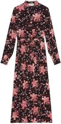 Gucci Floral print viscose dress