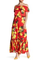 Alexia Admor Off-the-Shoulder Floral Ruffle Maxi Dress