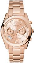 Fossil Women's Perfect Boyfriend Rose Gold-Tone Stainless Steel Bracelet Watch 40mm ES3885