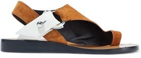 Rag & Bone Arc Two-tone Suede And Leather Sandals