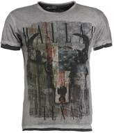 Key Largo COWBOYS Print Tshirt anthracite