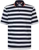 Paul & Shark Striped Polo Shirt, White, M