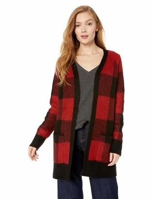 Lucky Brand Women's Buffalo Plaid Cardigan Sweater