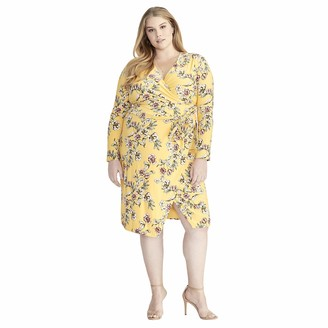 Rachel Roy Women's Plus Size Darcie Printed Jersey Dress