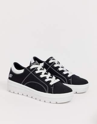 Skechers street cleat sneakers in black