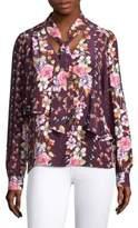 Parker Kinsley Floral Silk Blouse