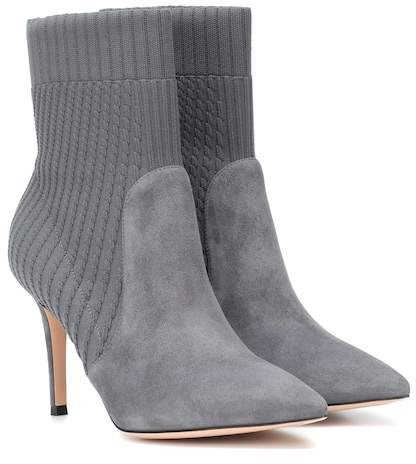 Gianvito Rossi Katie 85 suede ankle boots