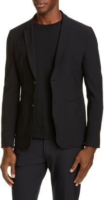 Emporio Armani Trim Fit Stretch Knit Sport Coat