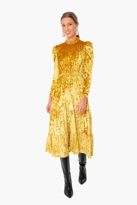 Moodie Velvet Tiered Dress