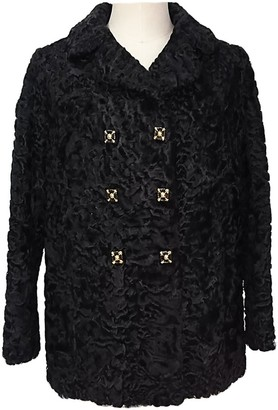 Astrakhan Non Signé / Unsigned Non Signe / Unsigned \N Black Jacket for Women Vintage