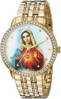 EWatchFactory Men's 'EW Guadalupe Rnd' Quartz Metal and Alloy Casual Watch, Color:-Toned (Model: PW00193)