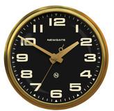 Newgate Clocks - Brixton Wall Clock - Radial Brass - Black Dial