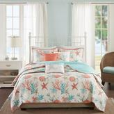 Madison Park Pebble Beach 6-piece Coral Cotton Quilted Coverlet Set - King/California King