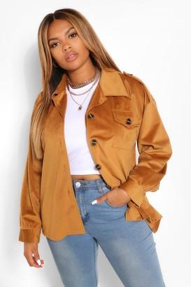 boohoo Jumbo Cord Oversized Jacket