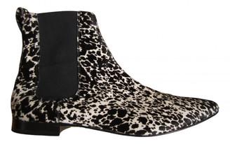 Burberry Black Pony-style calfskin Boots