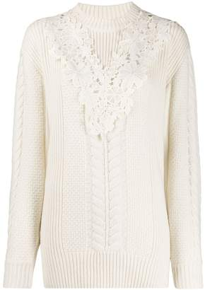 See by Chloe lace insert jumper