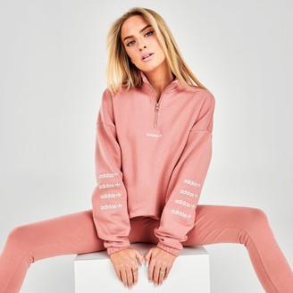 adidas Women's Repeat Quarter-Zip Sweatshirt