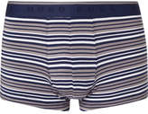 HUGO BOSS Striped Stretch-Cotton Boxer Briefs