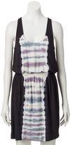 Rock & Republic Women's Racerback Tie-Dyed Blouson Dress