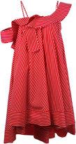 MSGM ruffled one shoulder dress - women - Cotton - 38