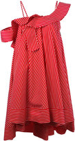 MSGM ruffled one shoulder dress - women - Cotton - 42