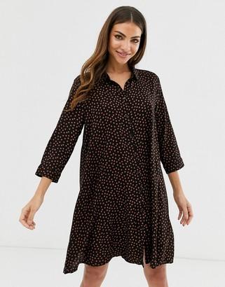 B.young spotty swing shirt dress-Multi