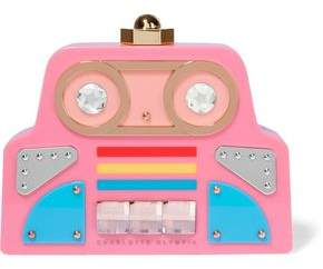 Charlotte Olympia Cobot Embellished Perspex Clutch