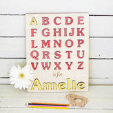 Wooden Toy Gallery My First Alphabet Personalised Puzzle