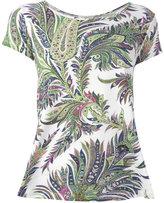 Etro floral print T-shirt - women - Cotton/Spandex/Elastane - 44