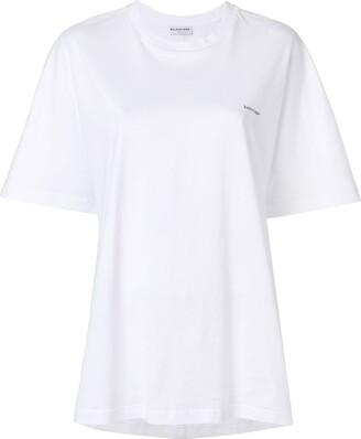 Balenciaga logo printed cocoon T-shirt