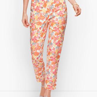 Talbots Perfect Crop Pants - Fruit & Flowers
