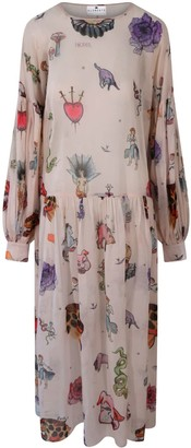 Klements Dusk Dress In Tattoo Print