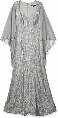 Ignite Evenings Women's Mother of The Bride Long Sequin Dress with Sleeves