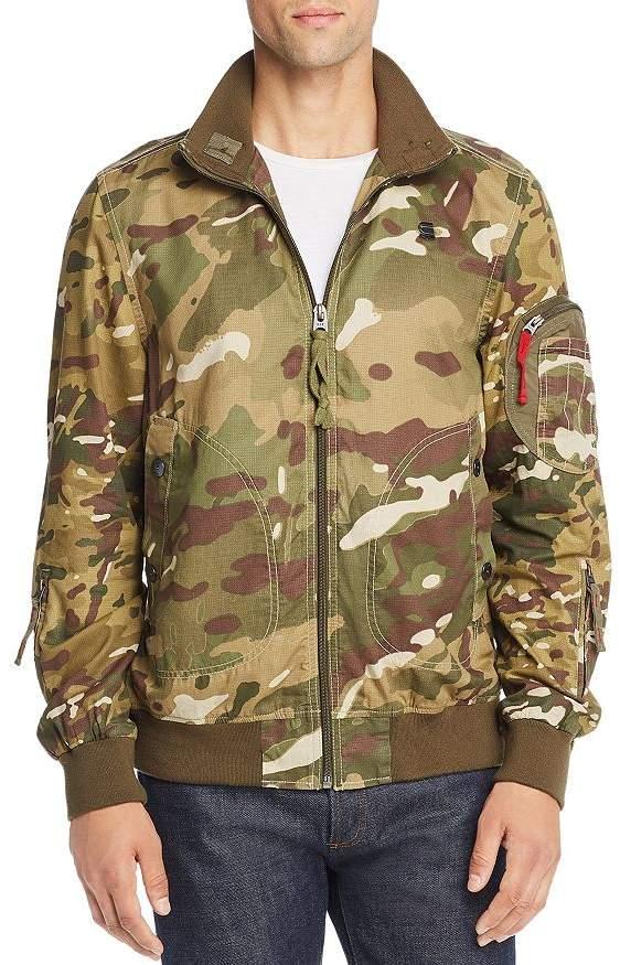 G Star Bolt Camouflage-Print Bomber Jacket
