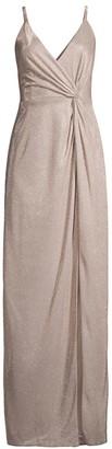 Aidan Mattox Metallic Twist Gown