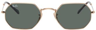 Ray-Ban Gold Hexagon Sunglasses