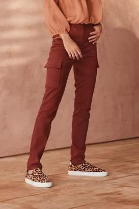 Next Womens Rust Utility Skinny Jeans - Orange