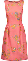 Lela Rose Betsy Metallic Brocade Dress