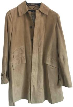Ralph Lauren Beige Suede Trench Coat for Women