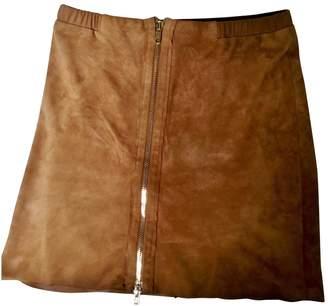 Bruuns Bazaar Camel Leather Skirt for Women