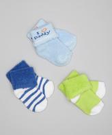 Luvable Friends Blue 'I Love Daddy' Socks Set