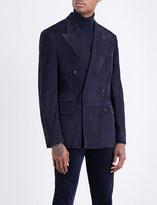 Ralph Lauren Purple Label Double-breasted suede jacket