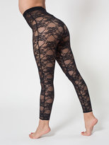 American Apparel Nylon Spandex Stretch Lace Legging
