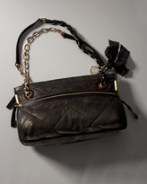 Leather Amalia Shoulderbag, Black