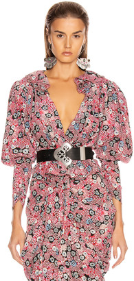 Isabel Marant Blinea Top in Pink   FWRD