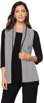 Slinky Brand Houndstooth Jacquard Knit Vest