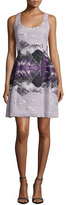 Prabal Gurung Sleeveless Molded-Seam Dress, Mid Purple