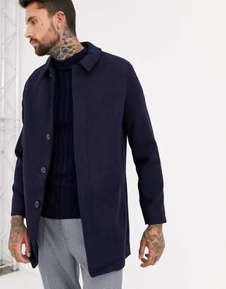 Asos Design DESIGN wool mix coat in navy