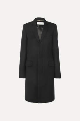Saint Laurent Wool Coat - Black